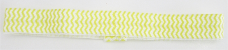 Chevron Yellow Elastic Headband